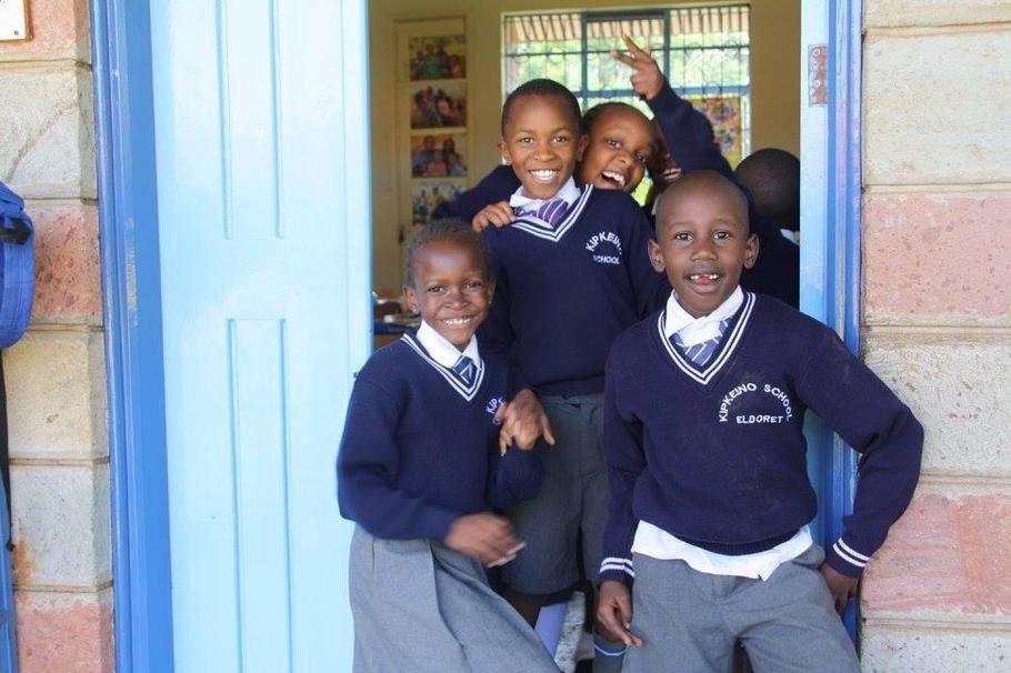 Children from Kipkeino Primary School, Kenya