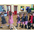 We enjoyed playing games from the past, such as 'London Bridge is falling down'.