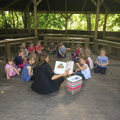 Stories in the outdoor classroom.