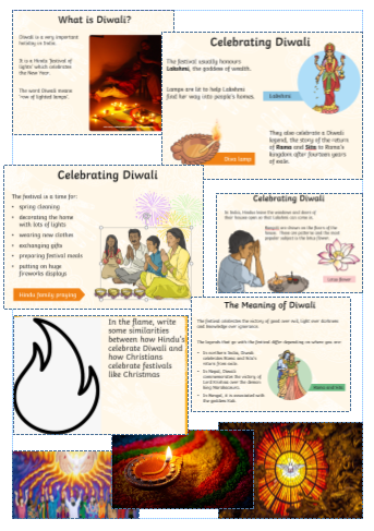 We find similarities between Hindus celebrating Diwali and Christians' Christmas