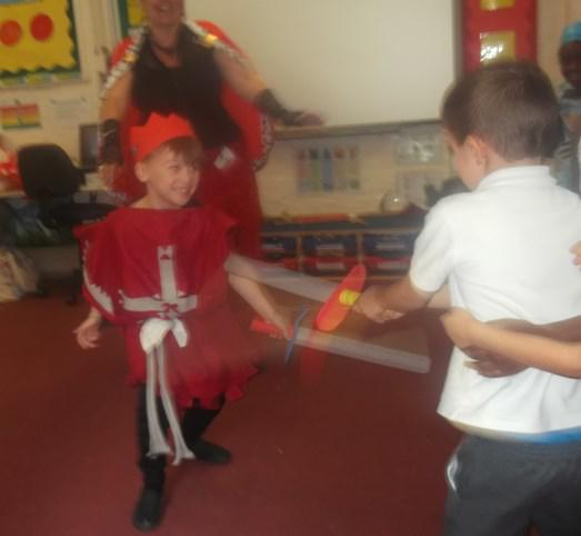 KS1 finding out how knights felt when taking part in battle