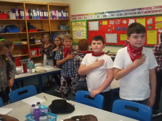 UKS2 comprehension lesson on the pledge of allegiance