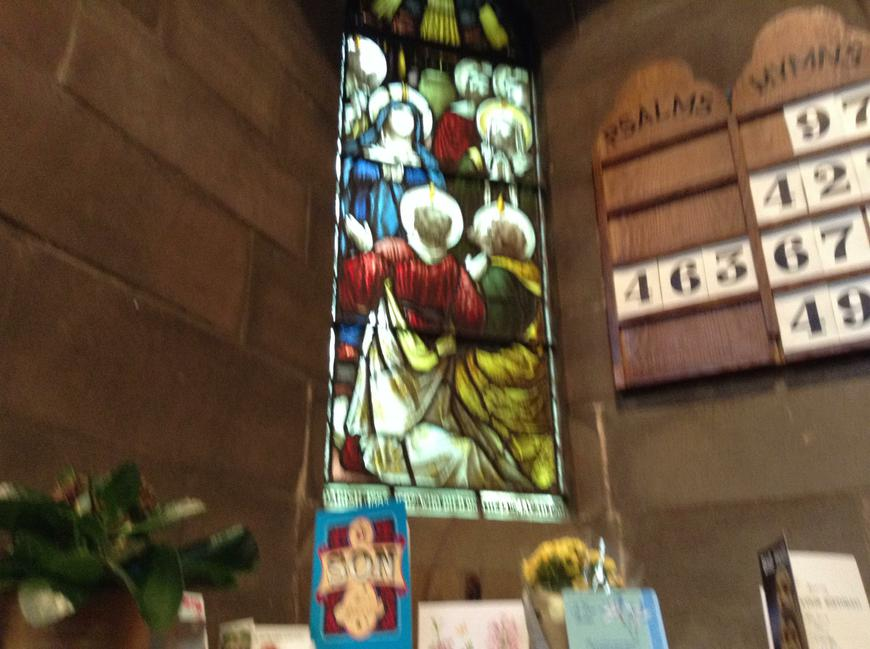 The beautiful stained glass windows