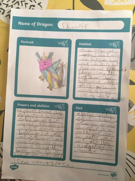 Look at Neve's dragon profile.