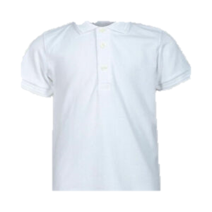 Plain White Polo T-shirt