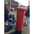 finding the key hole in the post box
