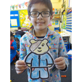 Ismaeel enjoyed dressing his own Pudsey Bear.