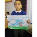 Talha and his art.