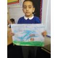 Talha and his art.