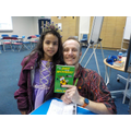 Burshna meeting author Chris White.