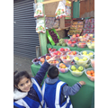 healthy fruit and vegetable stall