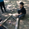 Toasting marshmellows  - yum!