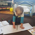 Writing numbers and letters.