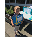Matthew collected packs for his friends too!