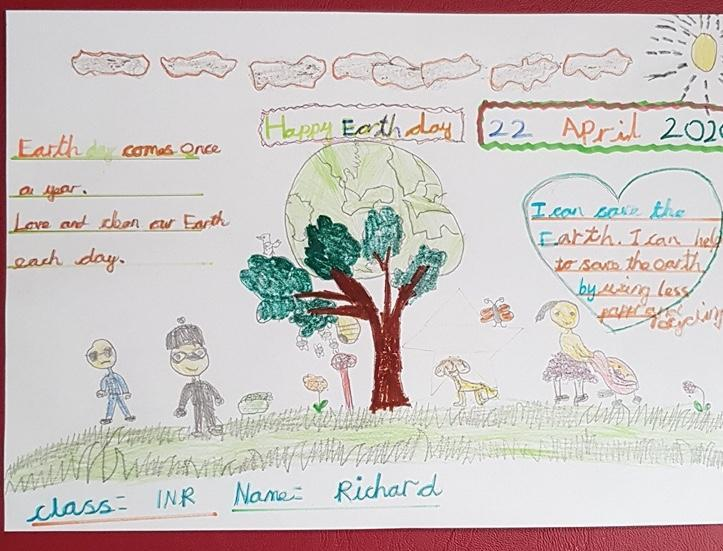 Richard in Y1 beautifully illustrated his poem.