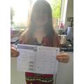 Yara enjoyed her Maths activity.