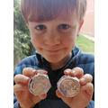 William made a Roman coin.