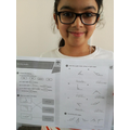 Anika completed her White Rose activity.