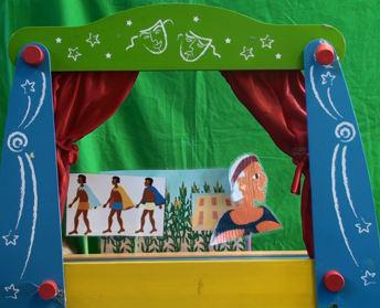 Drama: puppet show of ancient Mexican tale
