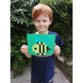 William made a mosaic bee.