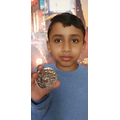 Shravan has made a Roman coin.