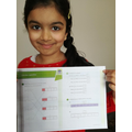 Anika has been solving fraction problems.