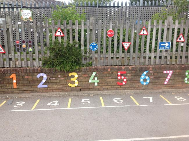 Outdoor numbers for parking spaces