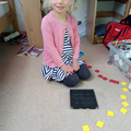Sophie counting shapes!