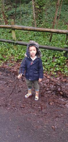 'The mud is mushy, squashy, wet and muddy!'