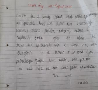 Harshiv in Y1 has said what the Earth does for us.