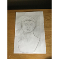 Jaya has drawn a Roman bust.
