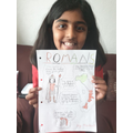 Mariam made a poster about The Romans.