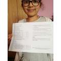 Ainka completed the comprehension activity.