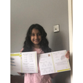 Jaya has been doing some White Rose learning.