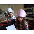 Jurry made pirate hats with her brother!