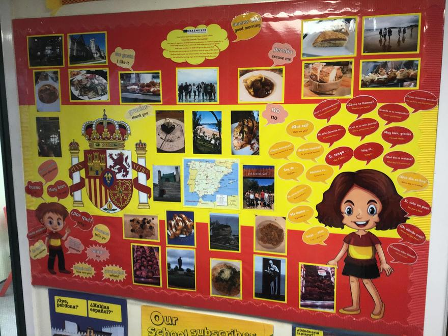 Display of staff trip to Spain, May 2019.