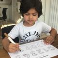 Wonderful pencil control as we write numbers.