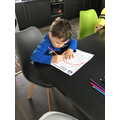 Concentrating on our home learning!