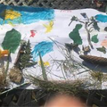 Making a Spring picture with materials collected.