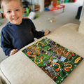 Playing games like Snakes and Ladders.