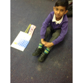 Making two digit numbers with Numicon.
