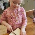 Careful cutting when making sandwiches.