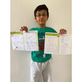 Tanish has completed the line graphs.