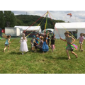 Maypole dancing at the Ambergate Carnival.