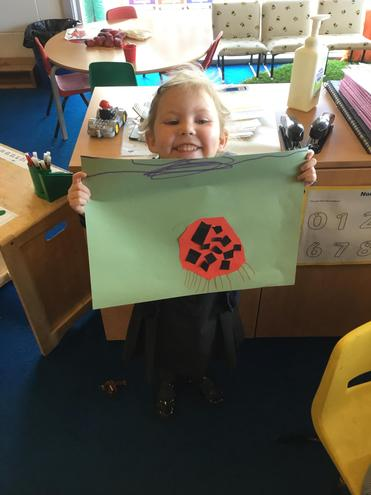 Making and assembling our own ladybird.