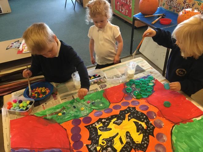 Amberley dragon- aboriginal art inspired.