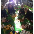 Spotting and sorting verbs with Miss Roberts.
