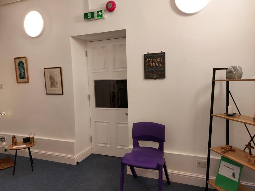 The new door into the Hall from the Reception