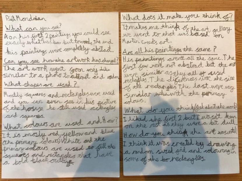 Y6 English writing