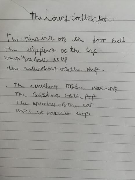 Y2 Poetry The Sound Colector
